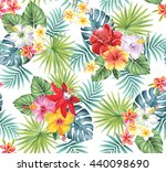 tropical seamless pattern with... | Shutterstock .eps vector #440098690