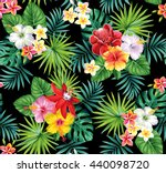 tropical seamless pattern with... | Shutterstock .eps vector #440098720