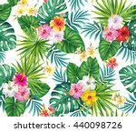 tropical seamless pattern with... | Shutterstock .eps vector #440098726