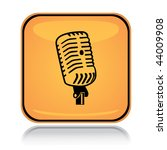 yellow square icon sound mic... | Shutterstock .eps vector #44009908