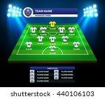 information soccer board vector ... | Shutterstock .eps vector #440106103