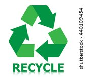 recycle icon green color on... | Shutterstock .eps vector #440109454