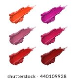 smudged lipstick color shades... | Shutterstock . vector #440109928