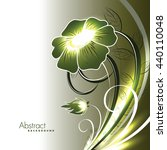 abstract vector shiny green... | Shutterstock .eps vector #440110048