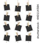 blank photo frames hanging... | Shutterstock .eps vector #440114584
