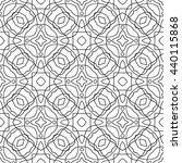 black  white seamless pattern....   Shutterstock .eps vector #440115868