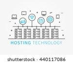 data hosting infrastructure... | Shutterstock .eps vector #440117086