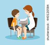 woman doctor examining patient... | Shutterstock .eps vector #440120584