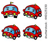 car cartoon isolated on white... | Shutterstock .eps vector #440125150