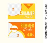flat summer sale theme web... | Shutterstock .eps vector #440125930