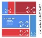 outline style south korea flag... | Shutterstock .eps vector #440126920