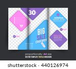 colorful business tri fold... | Shutterstock .eps vector #440126974