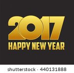 happy new year 2017 with led | Shutterstock .eps vector #440131888