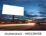 billboard blank for outdoor... | Shutterstock . vector #440138458