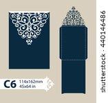 layout congratulatory envelope... | Shutterstock .eps vector #440146486