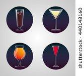 cocktails cup glass design | Shutterstock .eps vector #440148160