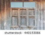 old vintage square wooden... | Shutterstock . vector #440153086
