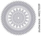 flower mandalas. vintage... | Shutterstock . vector #440170339