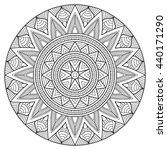 flower mandalas. vintage... | Shutterstock . vector #440171290