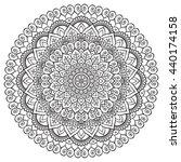 flower mandalas. vintage... | Shutterstock . vector #440174158
