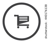 shopping cart icon vector