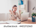 happy excited successful... | Shutterstock . vector #440191063