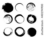 set of empty scribble circles ... | Shutterstock .eps vector #440194900