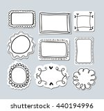 set of empty paper labels with...   Shutterstock .eps vector #440194996