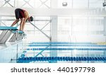 Professional Woman Swimmer In ...