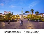 Plaza Grande In Old Town Quito...