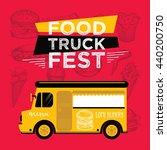 food truck festival menu food... | Shutterstock .eps vector #440200750
