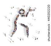 people pistol shooting sport 3d | Shutterstock . vector #440202220