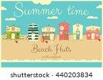 family vacation card. beach... | Shutterstock .eps vector #440203834