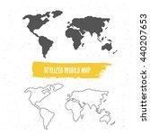 stylized world map | Shutterstock .eps vector #440207653