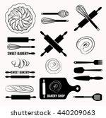 vector set of bakery icons. | Shutterstock .eps vector #440209063
