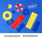 vector illustration of pool... | Shutterstock .eps vector #440209603