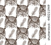seamless pattern with hand... | Shutterstock . vector #440211949
