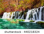 beautiful waterfall and azure... | Shutterstock . vector #440218324
