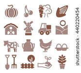farm icon set | Shutterstock .eps vector #440220454