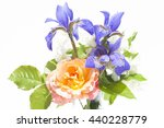 bouquet jasmine iris rose   Shutterstock . vector #440228779