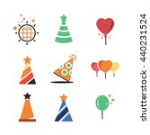 party celebration birthday icon ... | Shutterstock .eps vector #440231524