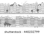 two hand drawn seamless city... | Shutterstock .eps vector #440232799