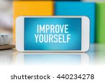 smart phone which displaying... | Shutterstock . vector #440234278