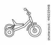 tricycle icon  outline style | Shutterstock .eps vector #440235448