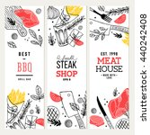 steak house banner collection.... | Shutterstock .eps vector #440242408