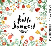 hello summer ink handwritten... | Shutterstock .eps vector #440244604