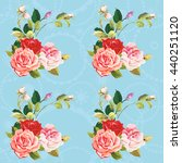 seamless floral pattern three... | Shutterstock .eps vector #440251120
