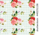 seamless floral pattern three... | Shutterstock .eps vector #440251138