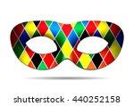 beautiful harlequin mask... | Shutterstock . vector #440252158
