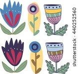 magic flowers | Shutterstock .eps vector #440252560